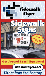 $67.57 Car Top Message Board Sign